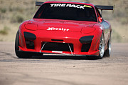Mazda Prints - RX 7 Race Car Print by Ernie Echols