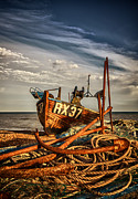 Hastings Framed Prints - RX37 anchors Framed Print by Mark Leader