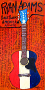 Acoustic Guitar Paintings - Ryan Adams Buck Owens American Acoustic by Karl Haglund