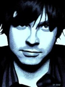 Contemporary Portraits. Prints - Ryan Adams Print by Dan Lockaby
