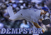 Friendly Confines Prints - Ryan Dempster Print by David Bearden
