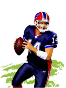 Buffalo Bills Prints - Ryan Fitzpatrick - Buffalo Print by Rodger Underwood