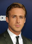 Bestofredcarpet Prints - Ryan Gosling At Arrivals For The Ides Print by Everett