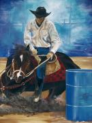 Barrel Painting Originals - Ryan Lovendahl by Patty Sjolin