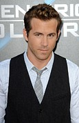 Wolverine Framed Prints - Ryan Reynolds At Arrivals For L.a Framed Print by Everett