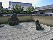 Kansai Photos - Ryogen-in Raked Gravel Garden - Kyoto Japan by Daniel Hagerman