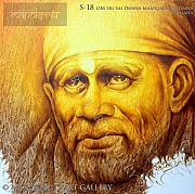 Sai Baba Paintings - S-18 by Prince Chand