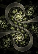 Spiral Digital Art Posters - S Curve Poster by David April