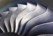 Tech-art Posters - S-curve Fan Blades Poster by Mark Williamson