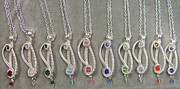 Child Jewelry - S-Curve Swarovski Crystal Pendant Choose Color by Heather Jordan