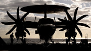 Carrier Framed Prints - .s. Navy Sailors Secure An E-2c Hawkeye Framed Print by Stocktrek Images