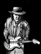 Stevie Ray Vaughn Posters - S . R . V Poster by Nick Gustafson