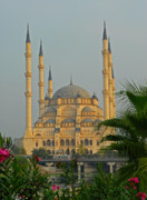 Turkey Metal Prints - Sabanci Central Mosque in Adana Turkey Metal Print by Alan Toepfer