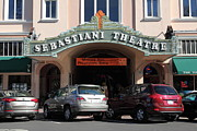 Small Towns Prints - Sabastiani Theatre - Downtown Sonoma California - 5D19273 Print by Wingsdomain Art and Photography