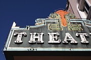 Small Towns Metal Prints - Sabastiani Theatre - Downtown Sonoma California - 5D19280 Metal Print by Wingsdomain Art and Photography