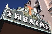 Small Towns Prints - Sabastiani Theatre - Downtown Sonoma California - 5D19281 Print by Wingsdomain Art and Photography