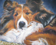 Sheepdog Paintings - Sable Shetland Sheepdog by Lee Ann Shepard