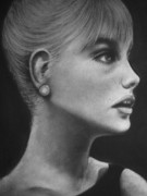 Model Pastels Originals - Sabrina by Paul Horton