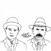 Revolution Drawings Posters - Sacco and Vanzetti Poster by Karl Addison