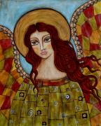 Christian Art . Devotional Art Painting Prints - Sachael Print by Rain Ririn