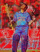 Sachin Tendulkar-100th 100-god Of Criket Print by Piety Dsilva