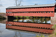 Covered Bridge Digital Art Prints - Sachs Covered Bridge Near Gettysburg Print by Bill Cannon