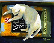 Cats Painting Posters - Sacked Out Poster by Pat Burns