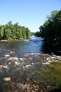 Saco River Framed Prints - Saco River - Conway NH Framed Print by Christiane Schulze