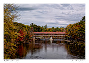 Saco Framed Prints - Saco River Autumn Framed Print by Richard Bean