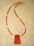 Orange Jewelry Originals - Sacral Chakra Necklace by Treasure-Tob E