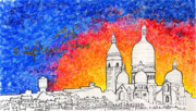 Sacre Coeur Art - Sacre Coeur by Alyson Therrien