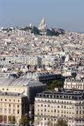Sacre Coeur Photos - Sacre Coeur at the summit of Montmartre Paris by Pierre Leclerc
