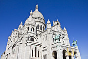 Christian Sacred Framed Prints - Sacre-Coeur Basilica in Paris Framed Print by Giancarlo Liguori