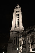 Sacre Coeur Art - Sacre Coeur bell tower by night I by Fabrizio Ruggeri