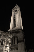 Sacre Coeur Art - Sacre Coeur bell tower by night II by Fabrizio Ruggeri