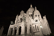 Sacre Coeur Art - Sacre Coeur by night I by Fabrizio Ruggeri