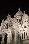 Sacre Coeur Art - Sacre Coeur by night II by Fabrizio Ruggeri