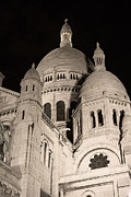 Sacre Coeur Art - Sacre Coeur by night III by Fabrizio Ruggeri