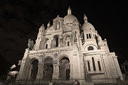 Sacre Coeur Art - Sacre Coeur by night IV by Fabrizio Ruggeri