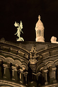 Sacre Coeur By Night Vi Print by Fabrizio Ruggeri
