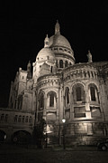 Sacre Coeur By Night Viii Print by Fabrizio Ruggeri