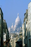 Architectural Feature Photos - Sacre Coeur in Paris by Sami Sarkis