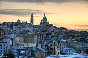 Montmartre Metal Prints - Sacre Coeur, Paris Metal Print by Richard Fairless