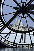 Museum Orsay Clock Posters - Sacre Couer from Orsay Poster by Mark Harrington