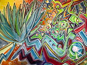 Graffiti Art Painting Originals - Sacred Agave by Steven Holder