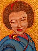 Japan Drawings - Sacred Artist by Elizabeth Hoskinson