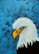 Yellow Beak Paintings - Sacred Bald Eagle by Claudia Tuli