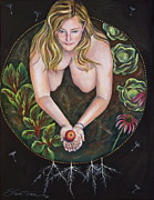 Dandelion Paintings - Sacred Circle 1 by Sheri Howe