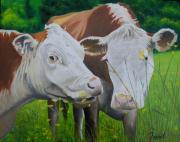 Milk Painting Posters - Sacred Cows Poster by Ferrel Cordle
