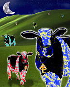 Cows Digital Art - Sacred Designer Cows by Keith Dillon
